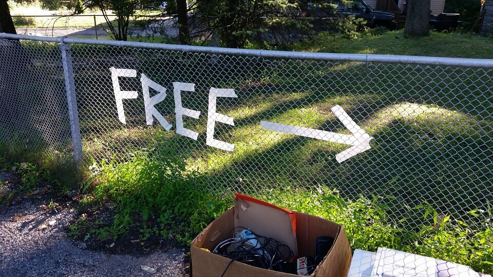 Free stuff over there